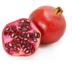 Pomegranate seeds, fruit, and juice