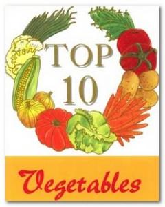 top 10 vegetables lists