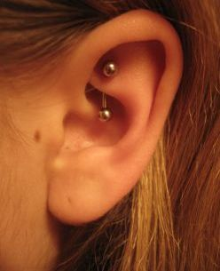 rook ear piercing